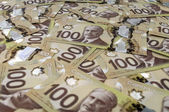 100 Canadian dollar banknotes. — Stock Photo