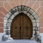 Gothic door. — Stock Photo