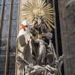 Statue of St. Francis, Stephansdom. — Stock Photo
