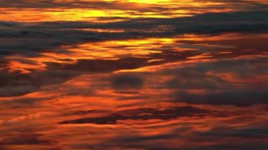 Sunset clouds, aerial footage. — Stock Video