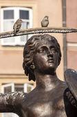 Mermaid statue in Warsaw. — Stock Photo