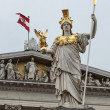 Pallas Athena, Austrian Parliament building. — Stock Photo