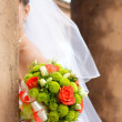 Bride's bouquet of flowers. — Stock Photo