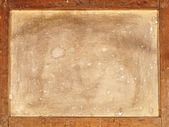 Back of old canvas in wooden frame. — Stock Photo