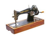 Old sewing machine.Isolated. — Stock Photo