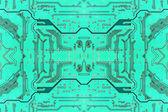 зеленый симметричные электронные микросхемы.справочная информация. — Стоковое фото
