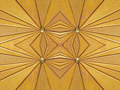 Kaleidoscope wooden segments background. — Foto de Stock