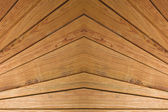 Symmetrical wooden slats background. — Stock Photo