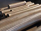 Flexible metal hose. — Stock Photo