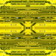Yellow electronic microcircuit.Background. — Stock Photo #26919927