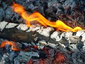 Bonfire.Closeup. — Stock Photo