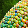 A lot of multicolored easter eggs. — Stock Photo
