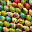 Multicolored easter eggs.Background. — Stock Photo