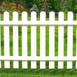 White fence in garden. — Stock Photo #29272225