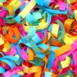 Colorful confetti taken closeup. — Stock Photo