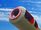 Artillery gun barrel. — Stock Photo