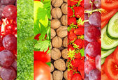 Ripe fruits and vegetables. — Stock Photo