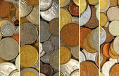 Coins collage. — Stock Photo