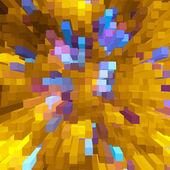 Yellow and blue square shape geometric background. — Stock Photo