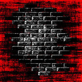 Grungy red abstract background with dark bricks inside. — Stock Photo