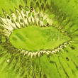 Stylized green kiwi taken closeup suitable as food background. — Stock Photo #40797757
