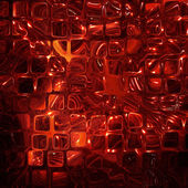 Abstract Futuristic background made from red transparent cubes. — Stock Photo