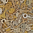 Stock Photo: Set of old metal keys.