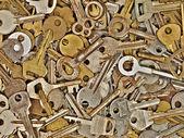 Set of old metal keys. — Stock Photo