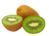 Ripe green kiwi.Isolated. — Stock Photo