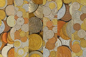 Coins collage.Different coins as background. — Stock Photo