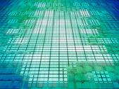 Green and blue matrix background. — Stock Photo