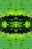 Stilisierte grüne Flüssigkeit abstrakt. — Stockfoto