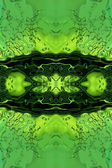 Stilize yeşil sıvı arka plan. — Stok fotoğraf