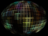 Abstract globe silhouette with global internet control. — Stock Photo