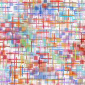 Multicolored grid and square shape pattern on white as abstract  — Stock Photo