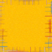 Yellow abstract background with checkered frame. — Stock Photo