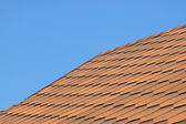 Roof of bituminous tiles. — Stockfoto