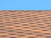 Bituminous tiles roof taken closeup. — Stock Photo