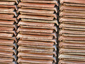 Ceramic tiles piles. — Stock Photo