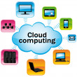 Colorful cloud computing. Technology connectivity concept. Vector illustration. — Stock Vector