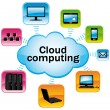 Colorful cloud computing. Technology connectivity concept. Vector illustration. — Stock Vector #12046401