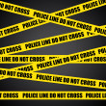 Police line. Do not cross. Vector crime scene background. — Stock Vector