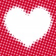 Royalty-Free Stock Vector Image: Halftone heart. Vector background.