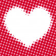 Halftone heart. Vector background. — Imagen vectorial