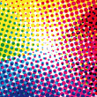 Royalty-Free Stock Vector Image: Colorful halftone dots vector background