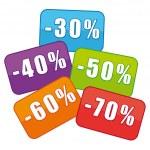 Sales. Discount labels. — Stock Vector