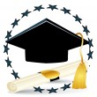 Graduation vector illustration - Vektorgrafik