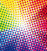 Colorful halftone dots vector background — Stock Vector