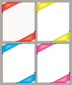 Renkli köşe afiş işaretleme ayarlayın. vektör toplama. — Stok Vektör