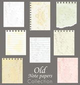 Old note papers collection. Scrapbooking vector set. — Stock Vector